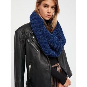 New Free People Love Bug Chenille Cowl Neck Scarf
